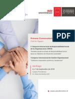 Convocatoria  V SIRSO y  I Congreso Internacional Gestion Organizacional 2018  - Universidad Autónoma de Chile