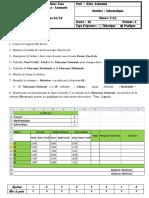 Examen Pratique Excel 2013
