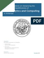 Arkansas Analytics and Computing Partnership Report