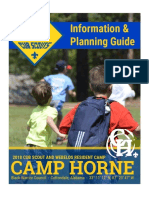 Camp Horne 2018 Cub Scout Information and Planning Guide