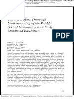 Toward a Most Thorough Understanding of the World- Sexual Orientation and Early Childhood Education