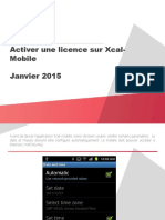 Activer Une Licence Sur Xcal Mobile