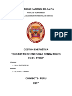 Subastas de Energias en El Perú