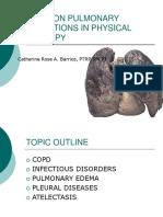 Pulmonary Conditions