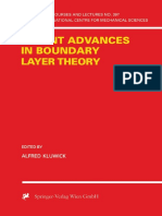 (CISM International Centre for Mechanical Sciences 390) Alfred Kluwick (Eds.)-Recent Advances in Boundary Layer Theory-Springer-Verlag Wien (1998)