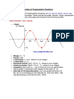 Properties of Trigonometric Functions