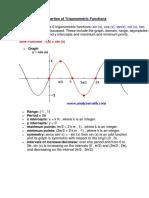 Properties of Trigonometric Functions