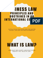 Business Law in an International Context with a focus on China and the United Stats