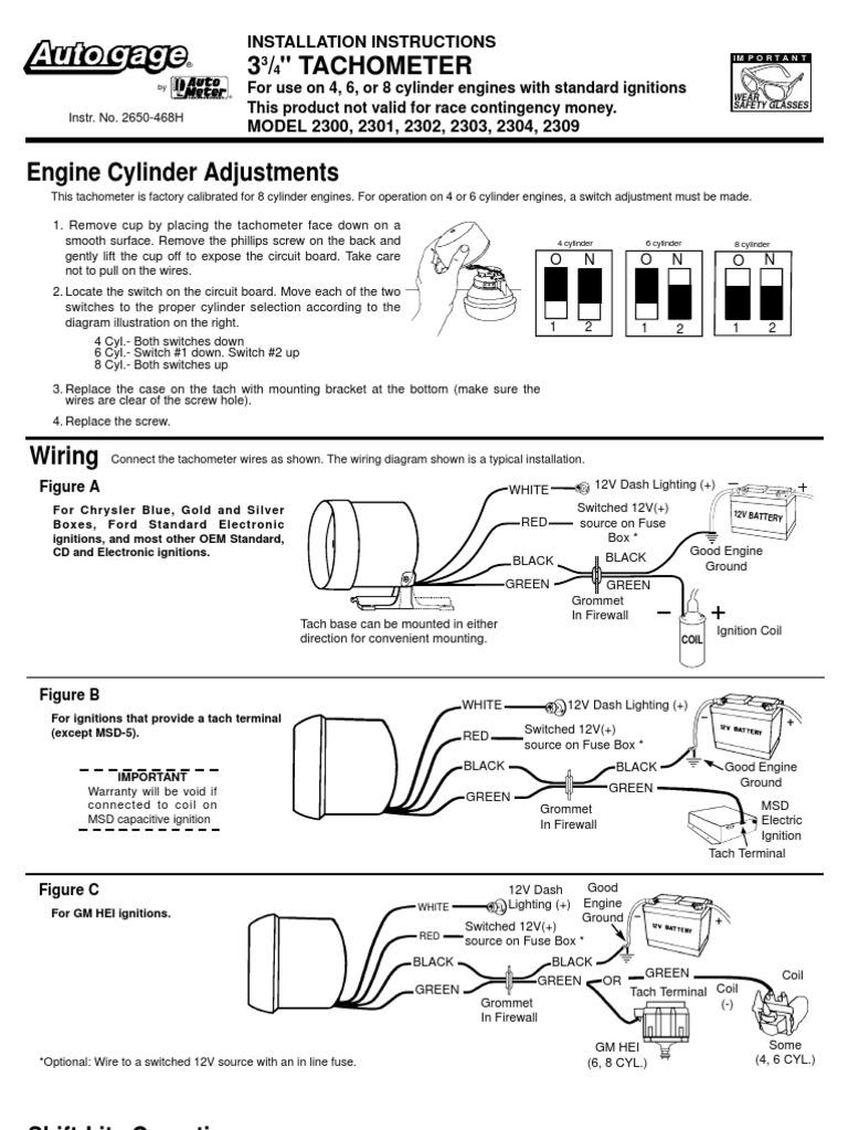 Auto Gauge Schematic | Ignition System | ComponentsScribd
