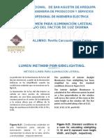 Metodo Lumen -ILUMINACION LATERAL