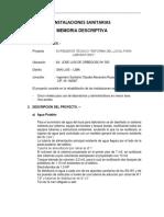 2. Memoria Descriptiva y Especificaciones t.