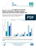 23 2015 Maternal Morbidity for Vaginal and Cesarean Deliveries, According to Previous Cesarean History New Data From the Birth Certificate, 2013.pdf