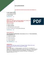 API 570 Possible Questions