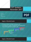 Important GST Updates – November 2017
