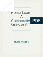 Home Loan- A Comparitive Study at BOI
