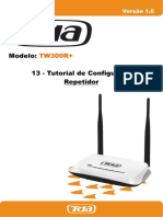 TW300R+ 13 - Tutorial de Configuração Repetidor