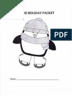 Math Holiday Packet