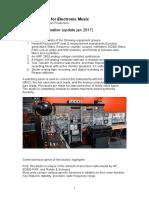 Analog Electro Acoustic Studio Tech Specs 1.3