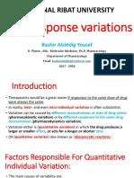 Variation of Drug Response-1