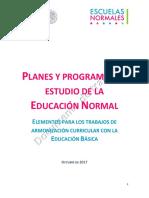 Documentos DGESPE Nueva malla curricular nov 2017