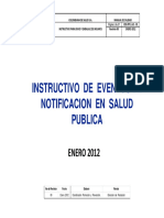 Instructivo Eventos de Notificacion Salud Publica