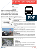 Info Board - What Are Transit Priority Measures