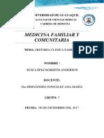 Anderson Ruiz Historia Clinca Familiar