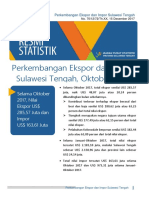 BrsInd-20171204123716Perkembangan Ekspor Dan Impor Sulawesi Tengah, Oktober 2017