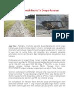 Kualitas Rendah Proyek Tol Gempol