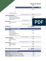 Business Balance Sheet Template