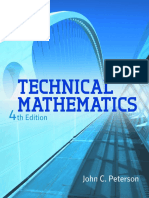Technical Mathematics 4th Ed