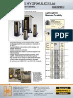 Enerpac Hydraulics  Aluminium Cylinders