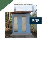 Pembangunan Mck Dana Desa Tahap 1 Tahun Anggaran 2017
