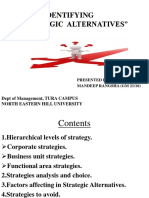 IDENTIFYING  STRATEGIC  ALTERNATIVES