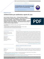 Acidosis Láctica Por Metformina Reporte de Caso 2017
