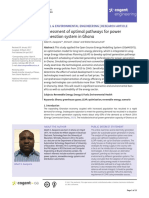 Assessment of optimal pathways for power generation system in Ghana