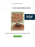 They Must Go by Rabb Meir Kahane