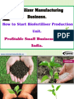 Biofertilizer Manufacturing Business. How to Start Biofertiliser Production Unit. Profitable Small Business Ideas in India.