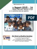 SNBS NGO Progress Report 2015-16