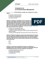 Self Assessment 10 Communications