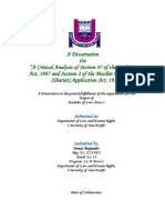 A Critical Analysis of Section 37 of the Civil Courts Act, 1887 and Section 2 of the Muslim Personal Law (Shariat) Application Act, 1937