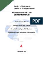 Ddot Micro Station v8 Cad Standards Manual September 2005