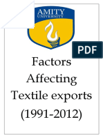 Fators Affecting Textile Exports By vansh