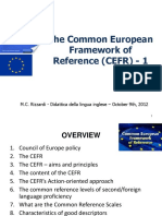 Introduction to the CEFR