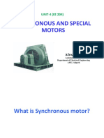 Synchronous and special  motors