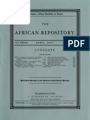 1857 04 African Repository | Africa | Agriculture