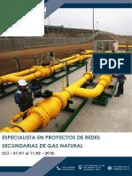 Brochure Especialista en Proyectos de Redes Secundarias de Gas Natural