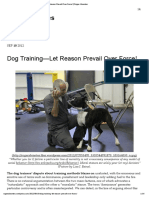 Dog Training—Let Reason Prevail Over Force! | Roger Abrantes