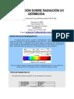 Información Sobre Radiación Uv Germicida