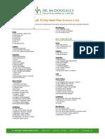 McDougall MealPlan Grocery Lists